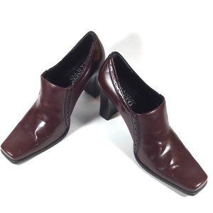 Franco Sarto Dark Maroon Heel Booties size 5 1/2 M